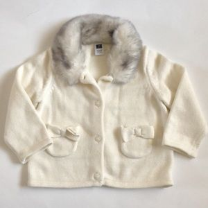 Other - Cardigan with Faux Fur Collar